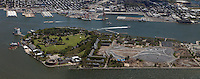 aerial photograph Governors Island, Manhattan, New York City