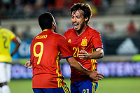 David Jimenez Silva and Pedro Rodriguez of Spain celebrates after scoring a goal during the friendly match between Spain and Colombia at Nueva Condomina Stadium in Murcia, jun 07, 2017. Spain. (ALTERPHOTOS/Rodrigo Jimenez) (NortePhoto.com) (NortePhoto.com)