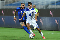 Cristiano Biraghi of Italy and Branimir Cipetic of Bosnia during the Uefa Nation League Group Stage A1 football match between Italy and Bosnia at Artemio Franchi Stadium in Firenze (Italy), September, 4, 2020. Photo Massimo Insabato / Insidefoto