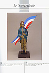 """Guy Buffet's """"Le Sans-culotte"""" bronze sculpture, created for the celebration of the French Revolution. 1989"""