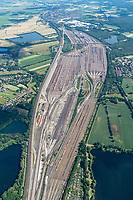 Gueterzuege auf dem Rangierbahnhof Maschen: EUROPA, DEUTSCHLAND, NIEDERSACHSEN, MASCHEN, (EUROPE, GERMANY), 24.06.2020:Rangierbahnhof Maschen
