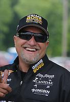 May 11, 2013; Commerce, GA, USA: NHRA funny car driver Jeff Arend during the Southern Nationals at Atlanta Dragway. Mandatory Credit: Mark J. Rebilas-