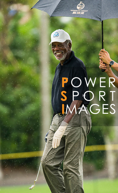 Contestants practice during the Mission Hills Celebrity Pro-Am on 24 October 2014, in Haikou, China. Photo by Victor Fraile / Power Sport Images