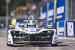 Lucas di Grassi of Brazil from Audi Sport ABT Schaeffler competes in the Formula E Qualifying Session 1 during the FIA Formula E Hong Kong E-Prix Round 1  at the Central Harbourfront Circuit on 02 December 2017 in Hong Kong, Hong Kong. Photo by Marcio Rodrigo Machado / Power Sport Images