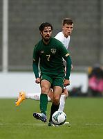 15th November 2020; Tallaght Stadium, Dublin, Leinster, Ireland; 2021 Under 21 European Championships Qualifier, Ireland Under 21 versus Iceland U21; Zack Elbouzedi on the ball for Republic of Ireland
