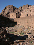 Stone and mud buildings at the oasis at Fint in Morocco.