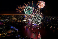 Fireworks over the River Thames, London
