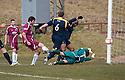 Alloa's Martin Grehan scores their first goal.