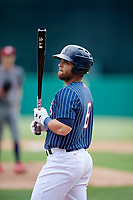 Syracuse Chiefs right fielder Jose Marmolejos (6) during a game against the Lehigh Valley IronPigs on May 20, 2018 at NBT Bank Stadium in Syracuse, New York.  Lehigh Valley defeated Syracuse 5-2.  (Mike Janes/Four Seam Images)