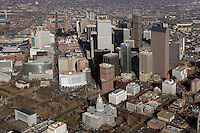 aerial photograph downtown financial district Denver, Colorado