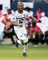 KANSAS CITY, KS - JUNE 26: Carlyle Mitchell #12 during a game between Guyana and Trinidad