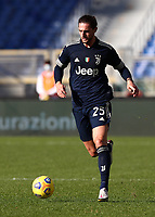 Football, Serie A: S.S. Lazio - Juventus Olympic stadium, Rome, November 8, 2020. <br /> Juventus' Adrien Rabiot in action during the Italian Serie A football match between Lazio and Juventus at Olympic stadium in Rome, on November 8, 2020.<br /> UPDATE IMAGES PRESS/Isabella Bonotto