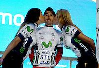 COLOMBIA. 16-08-2014. Alvaro Gomez ciclista gabador de la contrarreloj individual nocturna de 17.5 Km en la penúltima etapa de la Vuelta a Colombia 2014 en bicicleta que se cumple entre el 6 y el 17 de agosto de 2014. / Alvaro Gomez cyclist winner of the night individual time trial of 17.5 Km in the penultimate stage of the Tour of Colombia 2014 in bike holds between 6 and 17 of August 2014. Photo:  VizzorImage/ José Miguel Palencia / Str