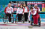 Dennis Thiessen, Ina Forrest, and Sonja Gaudet, Sochi 2014 - Wheelchair Curling // Curling en fauteuil roulant.<br />