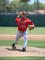 Chase Chaney - Los Angeles Angels 2019 extended spring training (Bill Mitchell)