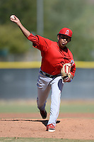 Los Angeles Angels pitcher Keynan Middleton (57) during an Instructional League game against the Milwaukee Brewers on October 11, 2013 at Tempe Diablo Stadium Complex in Tempe, Arizona.  (Mike Janes/Four Seam Images)