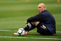 United States goalkeeper Marcus Hahnemann (23) prior to an international friendly between the men's national teams of the United States (USA) and Turkey (TUR) at Lincoln Financial Field in Philadelphia, PA, on May 29, 2010.
