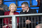 St Johnstone v Hearts 17.05.17     SPFL    McDiarmid Park<br />Ann Budge and Craig Levein in the stands<br />Picture by Graeme Hart.<br />Copyright Perthshire Picture Agency<br />Tel: 01738 623350  Mobile: 07990 594431