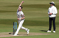 Oliver Hannon-Dalby of Warwickshire in bowling action during Warwickshire CCC vs Essex CCC, LV Insurance County Championship Group 1 Cricket at Edgbaston Stadium on 22nd April 2021