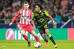 Atletico de Madrid's Lucas Hernandez (l) and Sporting Clube de Portugal's Gelson Martins during Europa League Quarter-finals, 1st leg. April 5,2018. (ALTERPHOTOS/Acero)