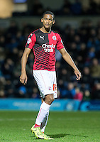Lewis Young of Crawley Town during the Sky Bet League 2 match between Wycombe Wanderers and Crawley Town at Adams Park, High Wycombe, England on 28 December 2015. Photo by Andy Rowland / PRiME Media Images