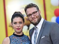 Seth Rogen + wife Lauren Miller @ the premiere of 'Sausage Party' held @ the Regency Village theatre.<br /> August 9, 2016