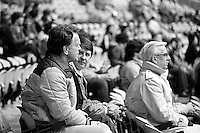 Montreal Expos<br /> baseball team fans watch the game at the Olympic stadium, April 6, 1983