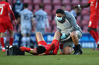 Injury concern for Lee Angol of Leyton Orient during Leyton Orient vs Forest Green Rovers, Sky Bet EFL League 2 Football at The Breyer Group Stadium on 23rd January 2021