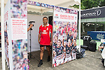 HSBC Ambassador Jason Robinson records its good luck message at the video booth in the Sevens Village during the HSBC Hong Kong Rugby Sevens 2016 on 07 April 2016 at Hong Kong Stadium in Hong Kong, China. Photo by Kitmin Lee / Power Sport Images