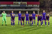 Team R.S.C. Anderlecht ( goalkeeper Justine Odeurs (13) , defender Laura De Neve (8) , forward Sarah Wijnants (11) , defender Laura Deloose (14) , forward Tessa Wullaert (27) , midfielder Tine De Caigny (6) and midfielder Charlotte Tisson (20) , midfielder Kassandra Missipo (12) , midfielder Stefania Vatafu (10) , forward Mariam Toloba (19) , forward Jarne Teulings (16) ) pictured during a female soccer game between RSC Anderlecht Dames and AA Gent Ladies on the seventh matchday of the 2020 - 2021 season of Belgian Womens Super League , friday 13 th of November 2020  in Overijse , Belgium . PHOTO SPORTPIX.BE | SPP | STIJN AUDOOREN