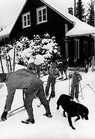 Family ski , winter 1974