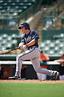 Atlanta Braves Bradley Keller (16) at bat during an Instructional League game against the Baltimore Orioles on September 25, 2017 at Ed Smith Stadium in Sarasota, Florida.  (Mike Janes/Four Seam Images)