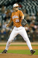 NCAA Baseball featuring the Texas Longhorns against the Missouri Tigers. Jungmann, Taylor 3491  at the 2010 Astros College Classic in Houston's Minute Maid Park on Sunday, March 7th, 2010. Photo by Andrew Woolley