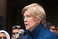 Senator Elizabeth Warren atRally Anti Trump Muslim Ban and immigration restrictions at Copley Plaza Boston ,MA 1.29.17