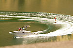 Water skiing at Lake Billie Chinook, Cove Palisades State Park, Central Oregon