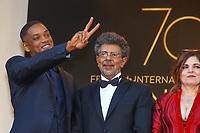 Will Smith et Gabriel Yared sur le tapis rouge pour la soirée dans le cadre de la journée anniversaire de la 70e édition du Festival du Film à Cannes, Palais des Festivals et des Congres, Cannes, Sud de la France, mardi 23 mai 2017.