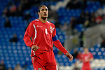 International Friendly match between Wales and Scotland at the new Cardiff City Stadium :  Wales Captain Ashleigh Williams.