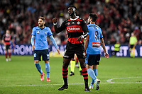 1st May 2021; Bankwest Stadium, Parramatta, New South Wales, Australia; A League Football, Western Sydney Wanderers versus Sydney FC; Bernie Ibini of Western Sydney Wanderers rues a missed scoring chance