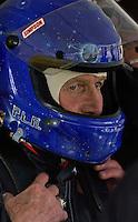 Rolex 24 at Daytona, Daytona International Speedway 5/6 Feb, 2005.P.L.N. gets prepared for some time behind the wheel..Copyright©F.Peirce Williams 2005