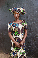AWright_SUD_005098.tif<br />  Juba, South Sudan, Africa. Woman attending Easter service at church.