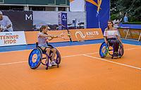 Den Bosch, Netherlands, 17 June, 2017, Tennis, Ricoh Open,  wheelchair clinic with Maikel Scheffers<br /> <br /> Photo: Henk Koster/tennisimages.com