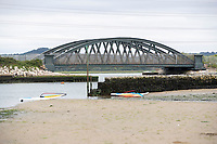BNPS.co.uk (01202) 558833. <br /> Pic: BNPS<br /> <br /> Pictured: Black Bridge by Rockley Point in Poole Harbour, Dorset. <br /> <br /> There are fresh calls for a holiday park to increase safety measures at a notorious beach where one swimmer has drowned and almost 20 children rescued this summer. <br /> <br /> In the latest incident a dad and his two young sons were plucked to safety in the nick of time after they were swept away by a rip tide at Rockley Park in Poole Harbour, Dorset.<br /> <br /> It happened a month after hero swimmer Callum Baker-Osborne, 18, drowned while helping to rescue 13 children at the same spot.<br /> <br /> And before that two young girls were saved from drowning by a paddleboarder.