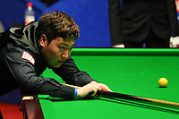 24th April 2021; Crucible Theatre, Sheffield, England; Betfred Snooker World Championships;  China's Yan Bingtao competes during the second round match with Englands Shaun Murphy