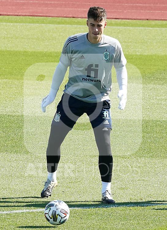 Spain's Kepa Arrizabalaga during training session. October 6,2020.(ALTERPHOTOS/Acero)