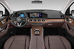 Stock photo of straight dashboard view of 2020 Mercedes Benz GLE 350 5 Door SUV Dashboard