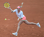 Andrea Hlavackova (CZE) loses to Serena Williams (USA) 6-3, 6-3 at  Roland Garros being played at Stade Roland Garros in Paris, France on May 26, 2015