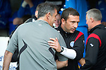St Johnstone v Bolton....02.08.10  Pre-Season Friendly.Owen Coyle and Derek McInnes hug before kick off.Picture by Graeme Hart..Copyright Perthshire Picture Agency.Tel: 01738 623350  Mobile: 07990 594431