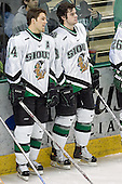 Chris Porter, Drew Stafford - The University of Minnesota Golden Gophers defeated the University of North Dakota Fighting Sioux 4-3 on Friday, December 9, 2005, at Ralph Engelstad Arena in Grand Forks, North Dakota.