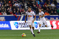 Harrison, NJ - Thursday March 01, 2018: Tyler Adams. The New York Red Bulls defeated C.D. Olimpia 2-0 (3-1 on aggregate) during a 2018 CONCACAF Champions League Round of 16 match at Red Bull Arena.