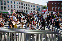 NEW YORK, NEW YORK - June 19: Hundreds of protesters march near Barclays Center on June 19, 2020. People gathered in New York at different locations to celebrate June 15, which remembers the day in 1865. When Union soldiers freed slaves, all movements are celebrated in the context of protests against the murder of George Floyd and other African Americans by the police in the USA. (Photo by Pablo Monsalve / VIEWpress via Getty Images)